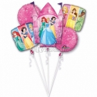 5 hēlija balonu komplekts PRINCESE  1 x liels balons 65-75 cm un 4 x 45 cm baloni.