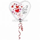 Es milu tēvi sirds  folijas balons  izmērs 43 cm