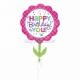 """Folijas hēlija balons """"Dzimšanas dienas zieds"""" izmērs 53 x 73 cm,"""