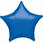 Звезда синяя  шар из фольги 48 cm