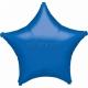 Zvaigzne zila folijas balons 48 cm