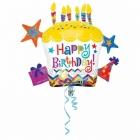 День рождения торт звездочки суперфигура шар из фольги  71 x 66 см