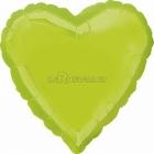 Kivi sirds formas folijas balons, piepūšams ar hēliju, izmērs 43 cm