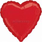 RED DAZZLER  sirds  folijas balons  izmērs 43 cm