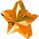 Zvaigžņu forma balonu svariņš, oranžs