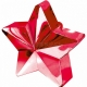 Zvaigžņu forma balonu svariņš, rozā