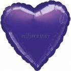 Фиолетовое   Сердце  из фольги  43см