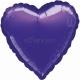 Violets sirds  folijas balons  izmērs 43 cm