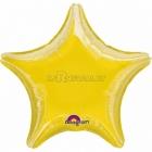 Zvaigzne dzeltena folijas balons 48 cm