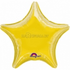 Звезда желтая  шар из фольги 48 cm