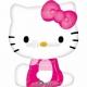 """Folijas hēlija balons """"Hello Kitty"""", rozā,  izmērs 56 x 69 cm,"""