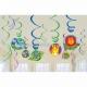 Dekoratīvās spirales mākslas rotājumi Džungļi 12 gab