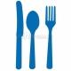 Набор столовых приборов темно-синего цвета