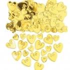 Reljefi konfeti Mīlošie sirsniņi, zelts, 14.g