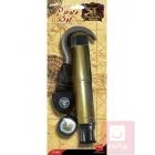 Pirāta aksesuāru komplekts - āķis, teleskops, kompass un acs apsējs