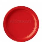 šķīvji  bez zimejuma. Krasa - sarkans abols, 22,8 cm, 8 gab