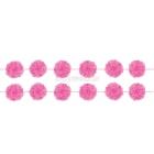 Pomponu vītne, koši rozā, 14 cm x 3.65 m, komplektā 2 gab.