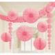 Zīdpapīra dekors gaiši rozā 9 gab. iepakojumā