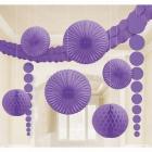 Zīdpapīra dekors purpursarkana 9 gab. iepakojumā