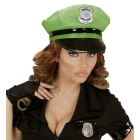 Neona zaļa policista cepure