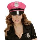 Neona rozā policista cepure