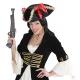 Pirātu cepure ar zelta apdari un banti