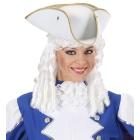Balta trīsstūraina cepure, filcs