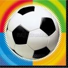 Салфетки бумажные Тема: Футбол 24.7см х 24,7см 16 шт.