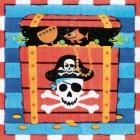 Салфетки бумажные Тема - пиратские сокровища 32.7см х 32,7см 16 шт