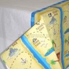 Скатерть бумажная  с рисунком 137см х 259см Тема - пиратские сокровища