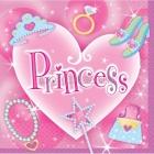 Dekorativās papīra salvetes Tēma: Princese 24,7cm  x 24.7cm 16 gab.