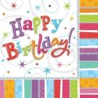 Салфетки бумажные Тема: Восхитительный день рождения  32.7см х 32,7см 16 шт.