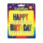 Свечи  с подсвечниками для торта,  высотой  5,7 см ,  happy birthday