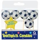 Набор свечей  на  день рождения,  тема футбол