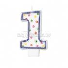 Свеча - цифра для торта,  7.6 см, 1