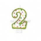 Свеча - цифра для торта,  7.6 см, 2