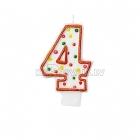 """8cm svece tortei -  Skaitlis """"4"""""""