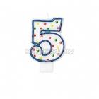 Свеча - цифра для торта,  7.6 см, 5