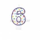 """8cm svece tortei -  Skaitlis """"6"""""""