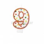 """8cm svece tortei -  Skaitlis """"9"""""""