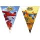 Vimpeļu (karodziņu)  virtene  (9 karodziņi) SUPER WINGS  svētku atribūtika