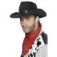 Gangstera cepure, melna, ar melnu lentu,