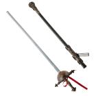 Veco laiku paukošanās zobens ar dekoratīvu maksti, 68 cm