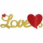 LOVE 3D Galda dekorācija  35x11 cm