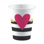 8 glāzes Ikdienas Mīlas Lielas sirdis