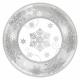 8 Plates sparkling snowflake 18 cm