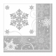 16 Luch napkins sparkling snowflakes