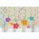 Havajiešu spirāles dekoratīvās modernās mākslas dekori